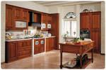 първокачествени ъглови кухни фурнир орех с луксозен дизайн