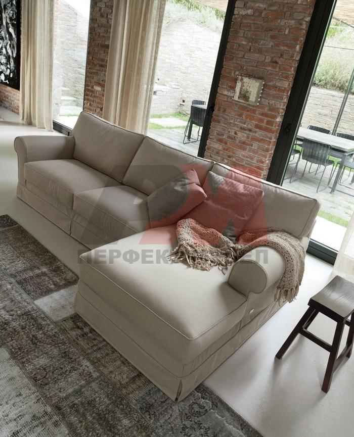 топкласна  мека мебел с лежанка по поръчка
