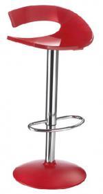 Дизайнерски бар стол в червено с амортисьор