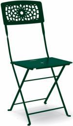 Метален стол тъмно зелен