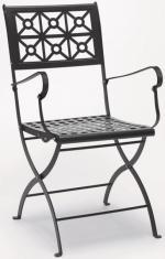 Метален сгъваем стол с подлакътници