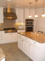 Правоъгълен кухненски плот от мрамор